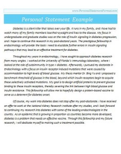 Personal Statement Format