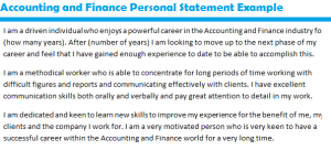 Job Personal Statement Sample