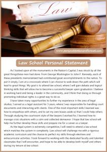 law school personal statement format