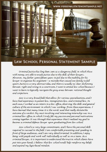 law school personal statement sample