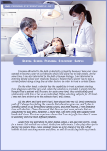 Dental-School-Personal-Statement-Sample