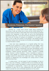 best nursing personal statement examples