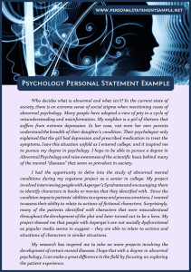 good psychology personal statement examples