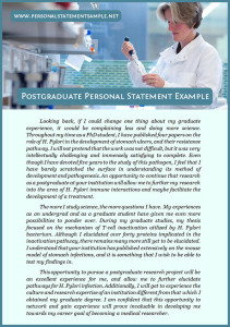 postgraduate personal statement sample