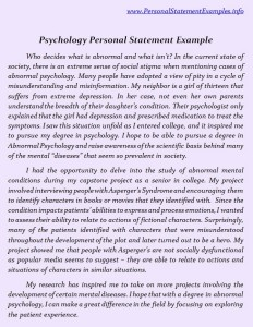 psychology personal statements cambridge