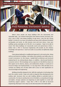 useful personal statement phd sample