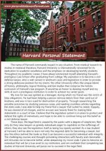 harvard personal statement format