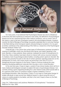 tips on mla format personal statement