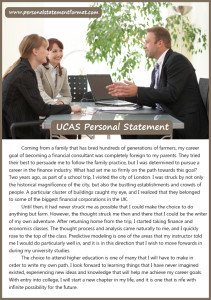what is the right ucas personal statement format