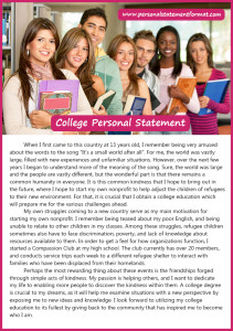 writing college personal statement format
