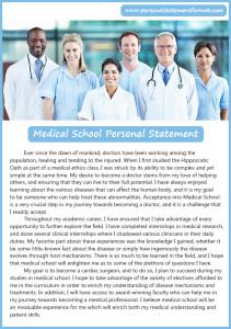 good medical school personal statement format