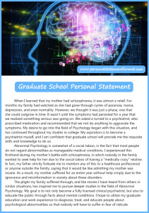 what is graduate school personal statement format