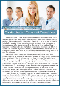 public health personal statement sample