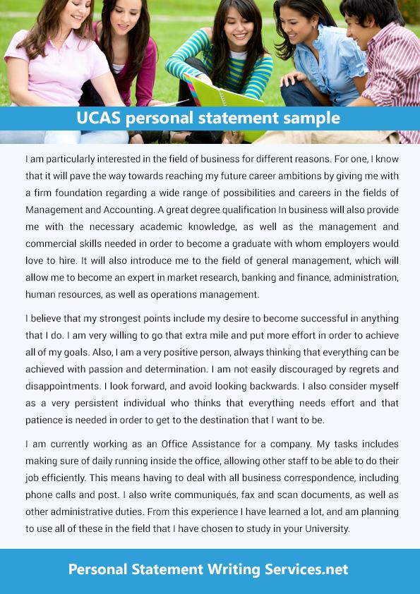 ucas personal statement sample